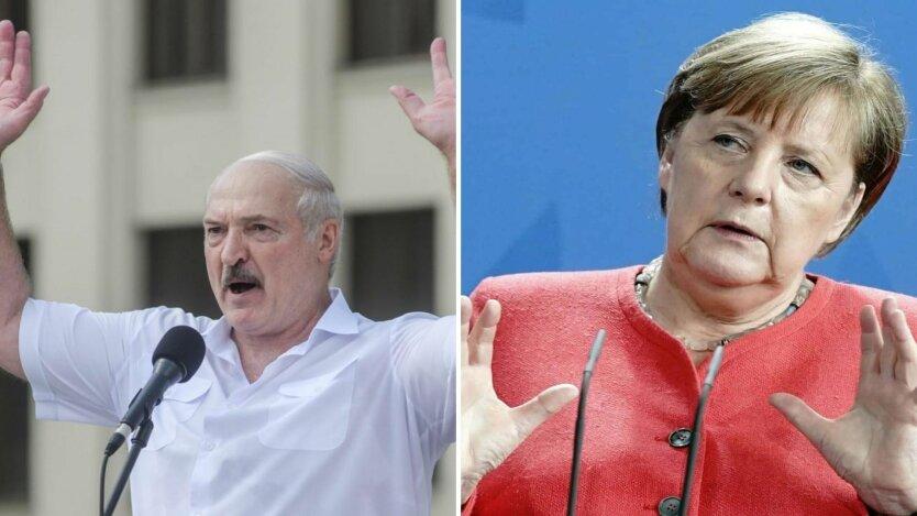 Александр Лукашенко и Ангела Меркель