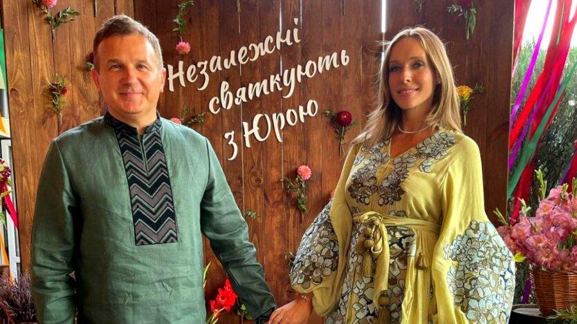 Катя Осадчая и Юрий Горбунов отмечают день рождения ведущего