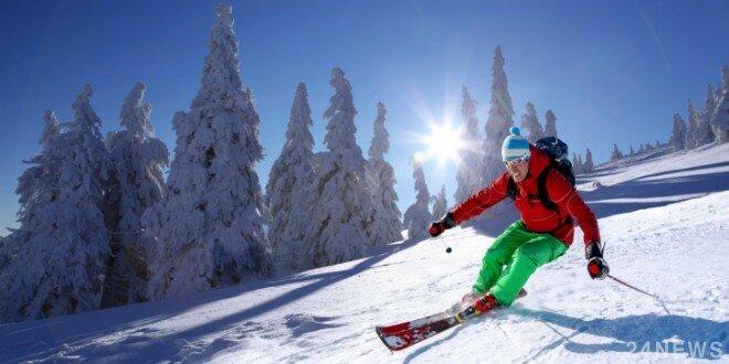 лыжи горы спорт