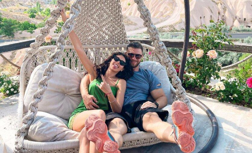 Анна Богдан и Михаил Заливако на отдыхе