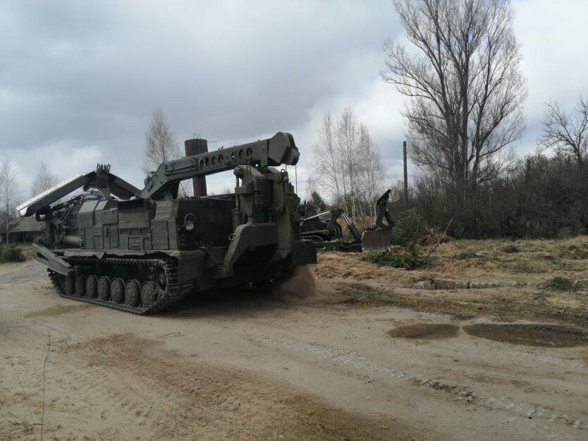 Путепрокладчик ВСУ, тушение пожаров в Украине