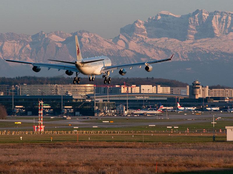 Швейцария аэропорт самолет