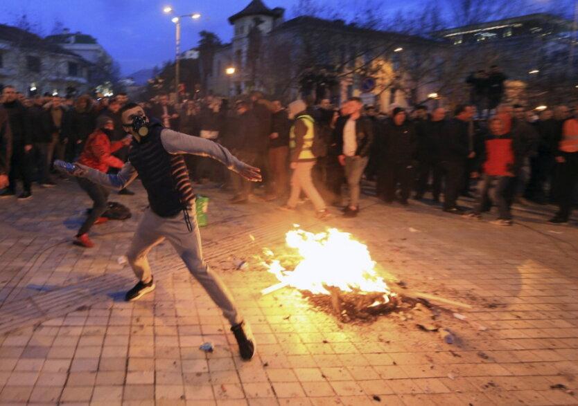 Албания_протесты