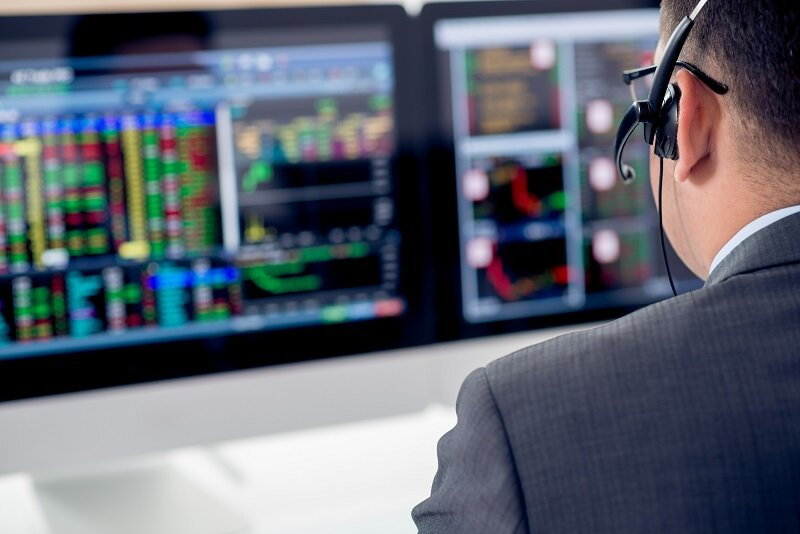 Businessman in headset