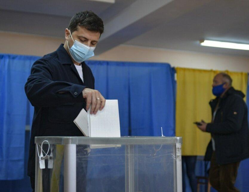 Владимир Зеленский,Местные выборы в Украине,Зеленский проголосовал
