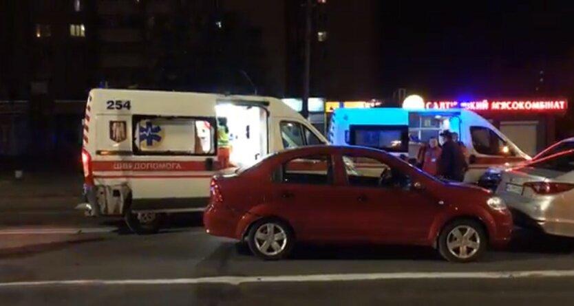 Столкновение автомобилей в Киеве,ДТП на Харьковском шоссе,ДТП в Киеве