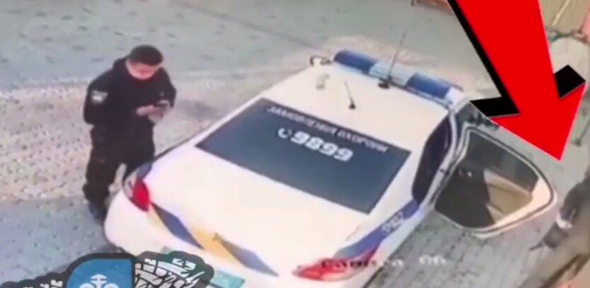 """Полицейские похитили мусорный бак на автомойке: """"кража века"""" попала на видео"""