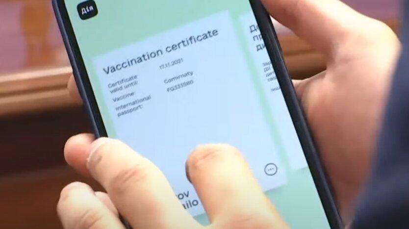 COVID-сертифікати, Дія