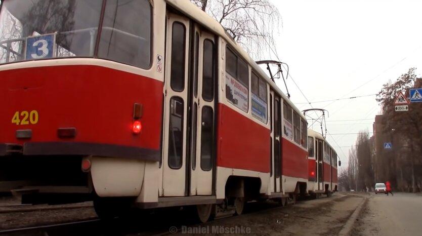 Трамвай, Харьков, возгорание