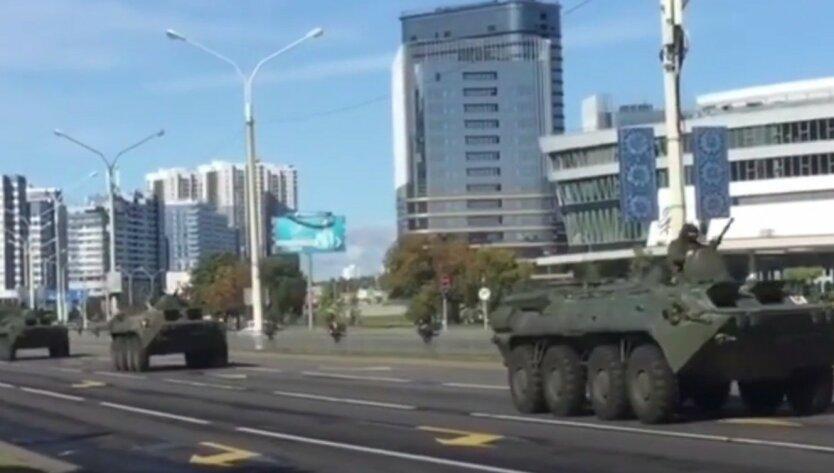 К резиденции Лукашенко направили БТРы