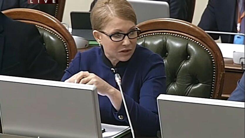 """Юлия Тимошенко, глава партии """"Батькивщина"""", защита от бедности"""