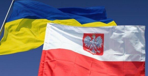 Украина и Польша флаги