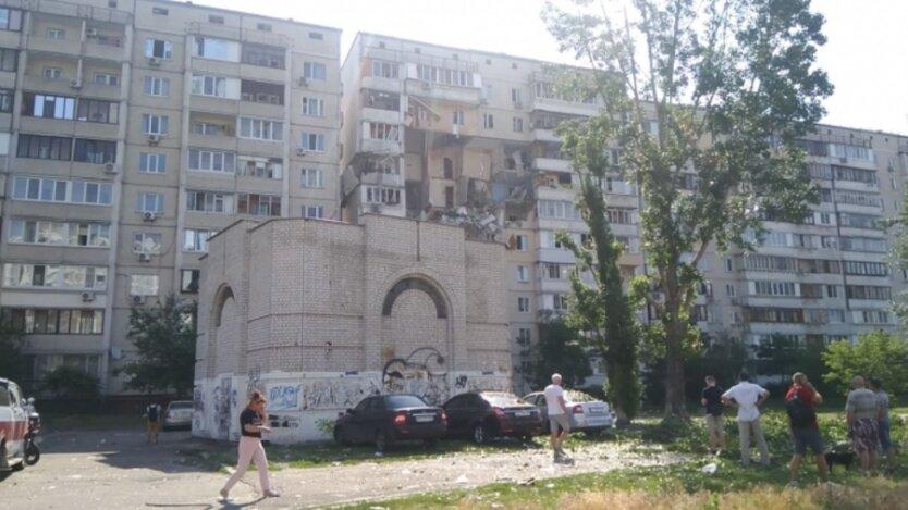 Взрыв в жилом доме Киева