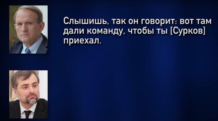 Переговоры Виктора Медведчука и Владислава Суркова, 2014 год, скриншот