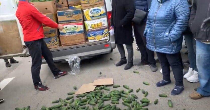 Акция протеста фермеров в Херсоне