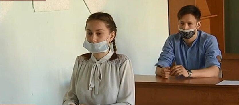 Школьники, средства защиты, коронавирус