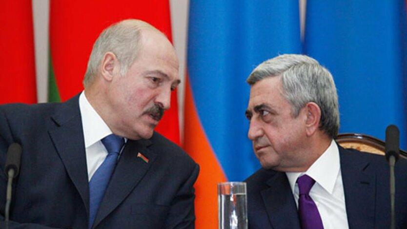 Александр Лукашенко и Серж Саргсян