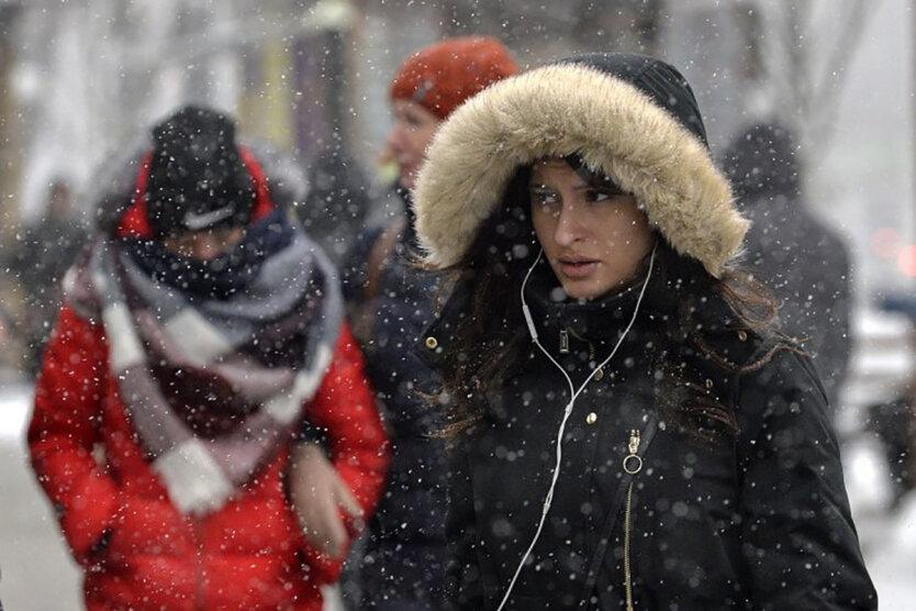 Погода в Украине: снегопад