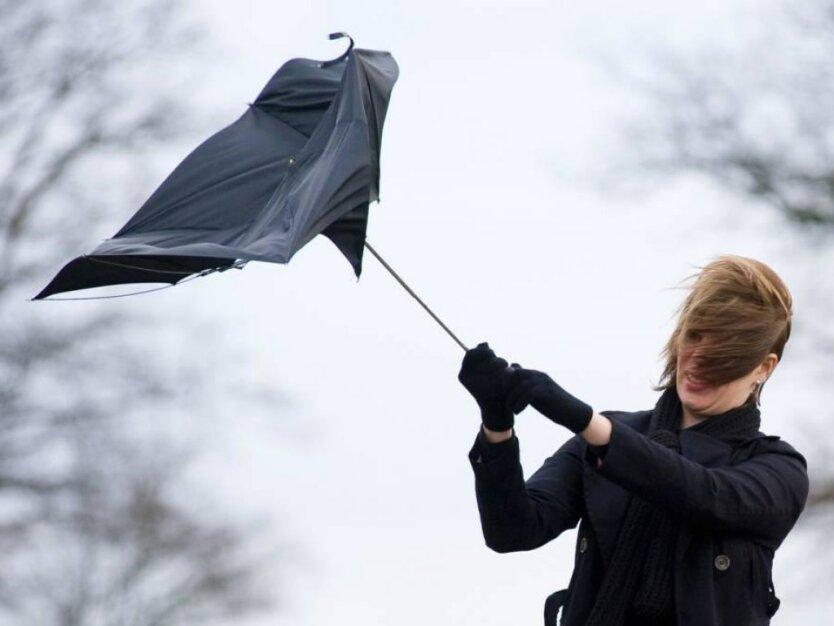 Погода в Украине, сильный ветер, ГСЧС