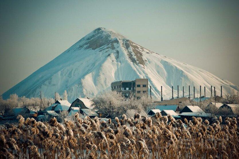 Донбасс терриконы зима