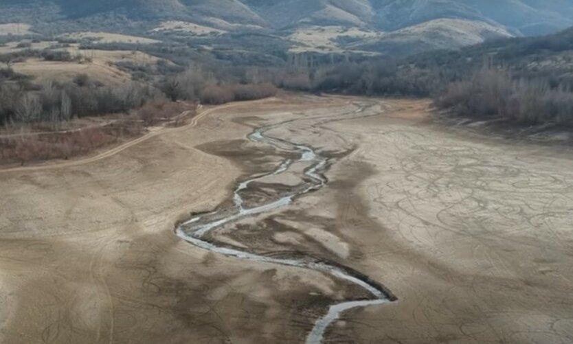 В аннексированном Крыму пересохло водохранилище
