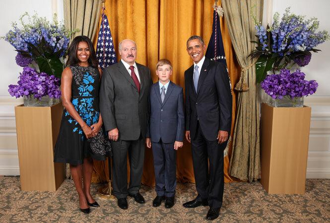 Сын Лукашенко Барак Обама Александр Лукашенко