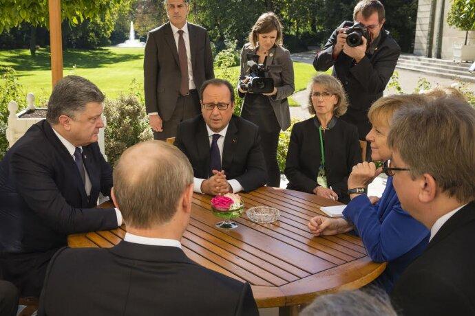 Петр Порошенко Владимир Путин Ангела Меркель Франсуа Олланд